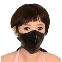 Wholesale Half Face Sex Mask - half face mask bdsm bondage gear slave training black mouth masks adult sex toys for women BX-1213