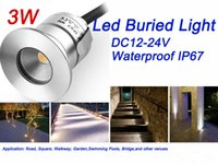 Wholesale Led Ceiling Light Low Voltage - Small 3W Recessed Led Ceiling Lights IP67 Buried Yard Garden Lights Exterior Light Fixtures Low Voltage Outdoor Landscape Lighting