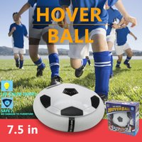 "Wholesale Wholesale Light Up Items - Lighted hover ball Electric Training Football Indoor Air Power Soccer Disk Football Foam Bumpers and Light Up LED Lights 7.5"" Kids toys"