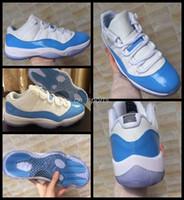 Wholesale Eva Balls - 2017 Air Retro 11 XI Low GS Men Women Basketball Shoes Blue White Retros 11s Sport Shoe Mens Womens Basket ball Sneakers 36-47