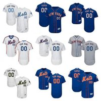 Wholesale Personalize New York Mets Mens Flex Base Custom Baseball Jerseys Home White Pinstripe Pullover th Patch Gray Royal Blue Father s Day S XL