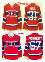 Wholesale Cheap White Ladies Shirt - Women Montreal Canadiens Jerseys Cheap 31 Carey Price 67 Max Pacioretty Ladies Hockey Shirts Red White Good Quanlity