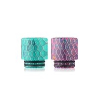 Wholesale Drip Tip E Cig - Electronic Cigarette Resin Drip Tip Wide Bore Drip Tips Net Wave E cig Mouthpiece for Vaporizer Smok TFV8 rda Atomizer Tank Wholesale