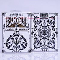 Barato Cartões De Plataforma De Atacado-Atacado - Archangels Deck Bicycle Playing Cards Tamanho do Poker USPCC Theory Playing Card Decks Magic Tricks Poker Cards 83068