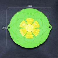 Wholesale Boiling Pan - Buddies Silicone Spill Cover Guard Lid Stopper Pan Kitchen Cooking Tool Boil Pot Hot Utensil Gift