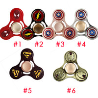 Wholesale alliance metal - 2017 Avengers Alliance Hand Spinner Metal EDC Tip Of The Finger Gyro Decompression Toys Rotating 3 Minutes DHL OTH454