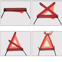 Wholesale Safety Warning Sign - Car Road Emergency Warning Triangle Foldable Reflective Safety Sign Roadside Free Shipping