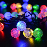 Wholesale Cell Led Bulbs - 30 Leds Lights Party Xmas Solar led Christmas Lights LED Strings Light Lamp Solar String Bulbs Waterproof 6.5M
