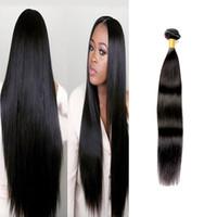 Wholesale European Hair Extentions - 7A grade best selling hair extentions 3 bundles Peruvian Virgin 100g piece Virgin Straight Hair Cheap Human Hair Weave Peruvian Virgin