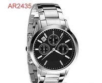 Wholesale Classic Watch Boxes - TOP QUALITY BEST Men's Classic Rose Gold-Tone Dial Chronograph Watch AR2435 AR2452 AR2453 AR2454 AR2460 AR2461 Original box +Certificate