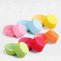 Wholesale Egg Tarts Mould - 100 pcs cupcake paper liners Muffin Cases Cup Cake Baking egg tarts tray kitchen accessories Pastry decorating Tools