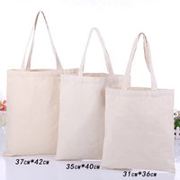 shopping blank cotton - Professional customized advertising handheld shopping hand bag Blank spot cotton canvas bags can be printed Logo