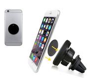 вращение магнита оптовых-360 градусов вращения магнитный мобильный телефон автомобильный кронштейн для iphone 6 s авто вентиляционный магнит держатель подставка для Samsung S5 S6 S7 Edge