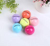 Wholesale Wholesale Organic Lip Balm - Fashion 3D Ball lips Lipstick Organic Ingredients Lip Balm Sweet Taste Natural Plant Sphere Fruit Embellish babylips Care
