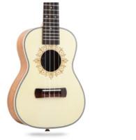 ukulele 23 polegadas venda por atacado-ukulele Havaí quatro cordas guitarra 23 polegada nuvem branca peach.Aplique para iniciantes
