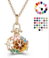 Wholesale silver harmony ball necklace - 2017 Chimes Pregnancy Ball necklace Mexico Bola ball Harmony Ball Chime Pendant Pregnant necklaces Women Gifts Pregnant necklace