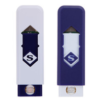 Wholesale Electronic Gas Cigarette Lighter - Novelty USB Electronic Rechargeable Battery Flameless Cigar Cigarette No flame Lighter No Gas Fuel Lighter