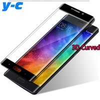 Wholesale Mi Glass - Wholesale- For XIAOMI MI NOTE 2 Tempered glass High Quality AAA Quality 3D Curved Full Cover Screen Protected Film For XIAOMI MI NOTE 2