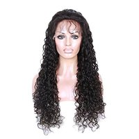 Wholesale Baby Curl Remy - Curl Full Lace wig Remy Indian hair glueless full lace human hair wigs with baby hair virgin lace front wig for black women