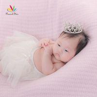 Wholesale Mini Round Crowns - mini crown Peacock Star Flower Girl   Baby Crystal Full Circle Round Mini Crown Tiara CT1778