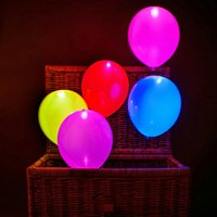 5pcs / set Irradiative LED Ballons Colorful Led Hellium Ballon Light Party Party Club Weeding Birthday Party Balloons Supplies