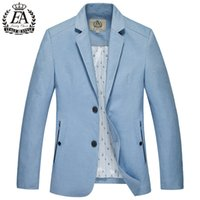 Wholesale High Quality Men S Trench - Wholesale- 2017 new arrival Spring autumn suit trench men's linen blazer fashion high quality outerwear plus size S MLXL2XL3XL4XL5XLx17