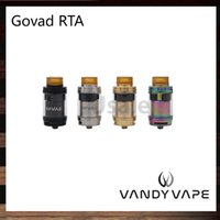 Wholesale springs clamps for sale - Group buy Vandy Vape GOVAD RTA ML Top Fill Design with Twist Off Cap Tank Dual Bridge Spring Loaded Clamp Style Build Deck Original