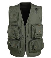 Wholesale Men Travel Vest - Wholesale- 2016 New Arrival Shooting Mesh Vest Men's Quality Causal Travel Vests Director Photographer Vest With Many Pockets vest