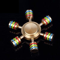 Wholesale Gold Metal Wholesale - Brass Hexagonal Fidget Spinner Hexa-spinner Detachable Spinners Metal Hand Spinners EDS Anti-stress Fidget Spinner Decompression Toy