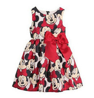 Wholesale Minnie Dress For Kids - Free shipping 2017 New girl casual dress cartoon Minnie dress for girls dot print kids child baby dresses for christmas infant