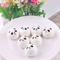 Wholesale Cute Animal Crafts - 1 5sq Cute Panda Squishy Bread Buns With Lanyard Crafts Expressions Fake Squishies Breads Pendant Animal Design Slow Rebound Queeze Toys CR