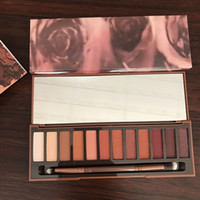 Wholesale Newest Waterproof Case - In Stock Newest Naked Eyeshadow Palette 12 Colors Professional Case NK Cosmetics set Make up Set With Makeup Brushes Hot Heat High Quality