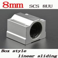 Wholesale Linear Blocks - Wholesale- 4pcs lot SC8UU SCS8UU 8mm Linear ball bearing block with LM8UU bush, pillow block linear unit for 8mm shaft CNC part
