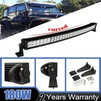 32 polegadas Curved 180W Alloy LED Bar Driving Work Light Bar Combo Beam Spot Flood IP67 Off road ATV SUV UTE 4X4 Camião Reboque Jeep Truck Ford