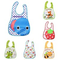 Wholesale Baby Bibs Waterproof Elephant Cartoon Children Bibs Infant Burp Cloths Brand Clothing Saliva Towel Kid Accessories