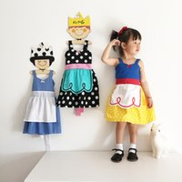 Wholesale Fancy Dress Belle - Baby Kids Girls Princess Dress Cartoon Snow White Belle Fancy Suspender Skirt Casual Cute Summer Fashion Bowknot One Piece Cosplay Costume