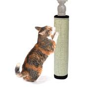 ingrosso albero torre-Giocattolo naturale di sicurezza per gatti Gatto di sicurezza Sisal Cat Scratching Cat per gatti Catnip Tower Climbing Tree