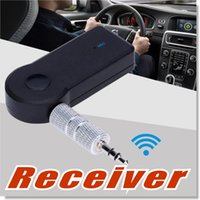 Wholesale Wireless Audio Transmitter Bluetooth - B08 Universal 3.5mm Bluetooth Car Kit A2DP Wireless FM Transmitter AUX Audio Music Receiver Adapter Handsfree with Mic For Phone MP3