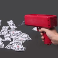Wholesale Party Prop Wholesale - Cash Cannon Money Gun Make It Rain Money Gun Red for Novelty Party Props Money Gun Decompression Toys