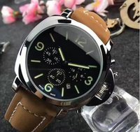 Wholesale Leather Watches For Men - Hot fashion Casual Sport watch men Quartz Watches Men's leather Wristwatches Clock Relogio Super gift for men#54654897