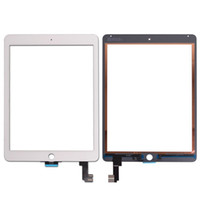 Wholesale Touch Ipad Original - 20PCS Original Touch Screen Glass Panel Digitizer for iPad Air 2 Balck and White free Shipping
