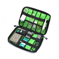 Wholesale Suitcase Card - Wholesale- New Electronic Accessories Travel Bag Nylon Mens Travel Organizer For Date Line SD Card USB Cable Digital Device Bag