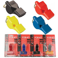 FOX 40 Árbitro Futebol Esporte Futebol Mix Cor Whistle Rugby Treinamento Outdoor Survival Plastic Cheerleading FOX 40 Whistle B240S