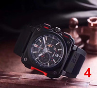 Wholesale Bell Calendar - Swiss top brand BELL ROSS watch men's luxury Sports BR Watch fashion High quality men's Watches clock quartz Mechanical watch AAA relojes