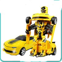 Wholesale Product Degree Rotation RC Model Car Deformation Robot Educational Toys Shape shifting Car Model Plastic Material