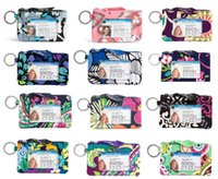 VB cotone Zip ID cassa ID card Holder carta di credito carta bus cartone cancelleria forniture scolastiche