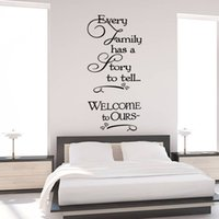 Wholesale Decorative Wall Decals Removable - Welcome to our home Family quote wall decals decorative removable heart vinyl wall stickers Home Decor Bed Room Home Decoratrom