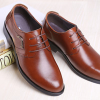 Wholesale Tan Mens Shoes - Brand oxford leather men shoes wedding tan lacup up UK fashion black mens brown dress shoes business male dress shoes men flats footwear