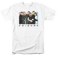 Wholesale friends tv series - Friends Sitcom TV Series Cast Logo Officially Licensed Adult Men's T Shirt White Short Sleeves Cotton Fashion Free Shipping