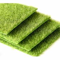 ingrosso tappeto falso-Micro paesaggio fata decorazione del giardino simulazione artificiale muschio falso muschio eco bottiglia prato erba tappeto erboso accessori fai da te15x15 cm